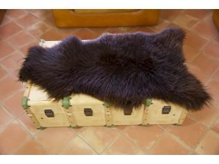 Peau de mouton UK - Marron rustique naturel - 110/120cm - 0421-54