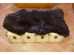 Peau de mouton UK - Marron rustique naturel - 110/120cm - 0421-55