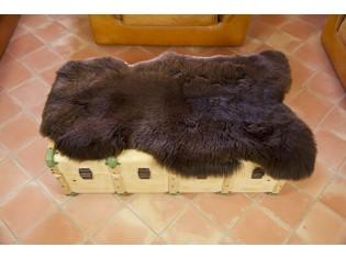 Peau de mouton UK - Marron rustique naturel - 110/120cm - 0421-56