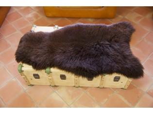 Peau de mouton UK - Marron rustique naturel - 110/120cm - 0421-57