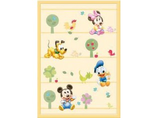 Tapis enfant Disney, Mickey Baby Amis, 133x190cm