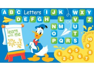 Tapis enfant Disney, apprendre avec Donald, 80x140cm