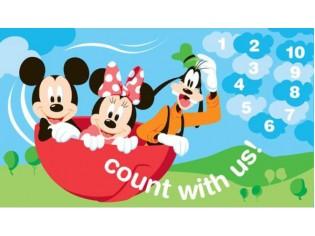 Tapis enfant Disney, Mickey, compter avec nous, 80x140cm