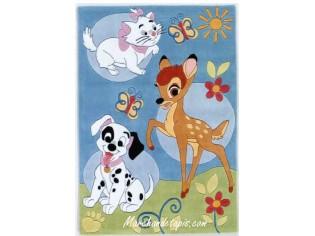 Tapis enfant Disney, Bambi, Dalmatien et Aristochat, 115x168cm