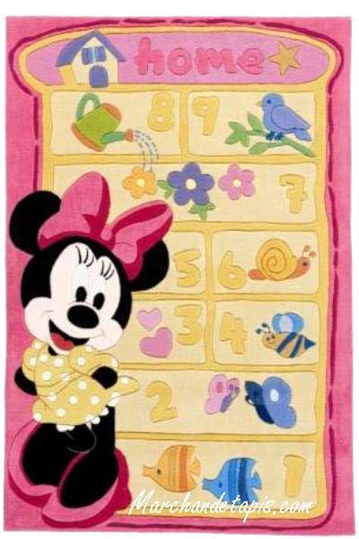 tapis enfant minnie marelle 115x168cm tapis enfant disney slection marchand de tapis. Black Bedroom Furniture Sets. Home Design Ideas