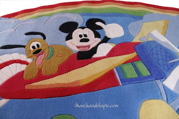 Tapis enfant mickey et pluto en avion 115x168cm tapis enfant disney marchand de tapis - Mickey et plutot ...