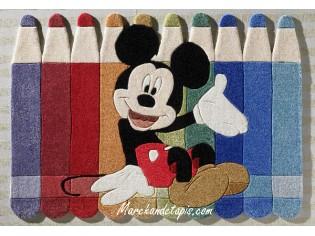Tapis enfant Disney, Mickey et ses crayons, 115x168cm