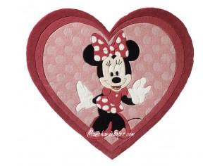 Tapis enfant Disney, Coeur, Minnie, 150x170cm