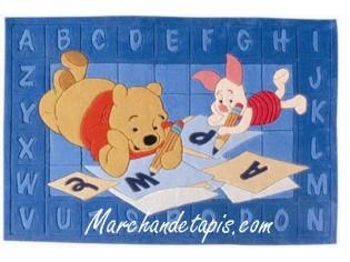 Tapis enfant Disney, Winnie, Alphabet, 115x168cm