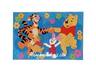 Tapis enfant Disney, Winnie et ses amis, la ronde, 115x168cm