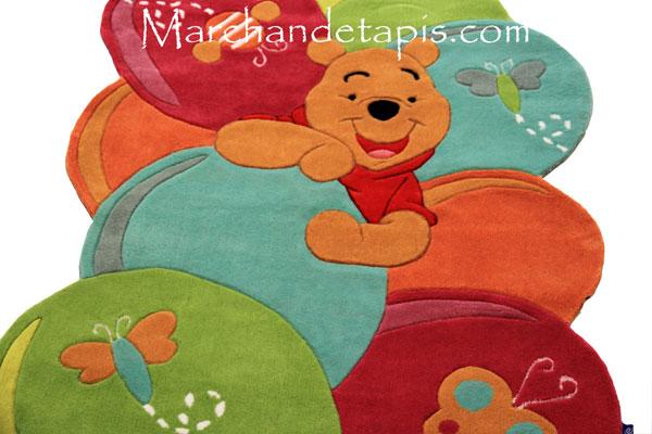 tapis enfant winnie l 39 ourson 115x168cm tapis enfant disney de grande qualit marchand de tapis. Black Bedroom Furniture Sets. Home Design Ideas