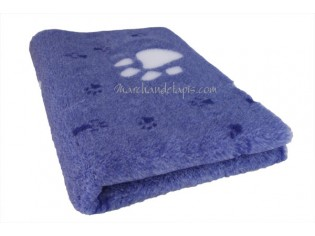 Tapis chien Drybed® antidérapant BLEU GROSSES PATTES