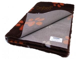 Tapis chien Drybed® antidérapant CHOCOLAT GROSSES PATTES ORANGE