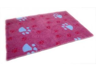 Tapis chien Drybed® antidérapant BLEU CERISE GROSSES PATTES