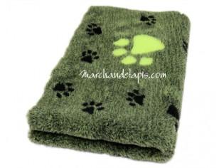 Tapis chien Drybed® antidérapant VERT NOIR GROSSES PATTES