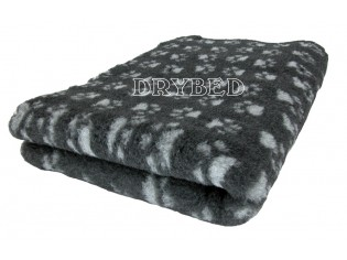 Tapis chien Drybed® antidérapant GRIS FONCE + PATTES GRISES
