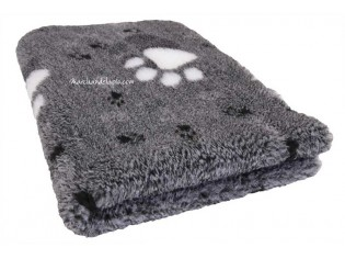 Tapis chien Drybed® antidérapant GRIS GROSSES PATTES