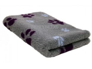 Tapis chien Drybed® antidérapant GRIS GROSSES PATTES PARMES