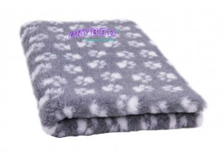 Tapis chien Drybed® antidérapant GRIS PATTES BLANCHES