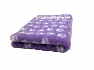 Tapis chien Drybed® antidérapant LILAS + PATTES BLANCHES