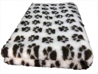 Tapis chien Drybed® antidérapant MAGNOLIA + PATTES CHOCOLAT