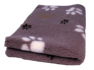 Tapis chien Drybed® antidérapant MARRON PETITES ET GROSSES PATTES