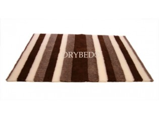 Tapis chien Drybed® antidérapant RAYURES MARRON