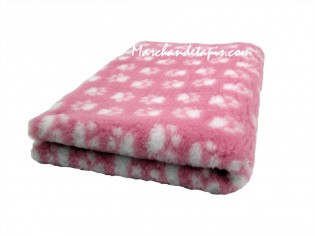 Tapis chien Drybed® antidérapant ROSE + PATTES BLANCHES