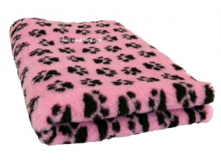 Tapis chien Drybed® antidérapant ROSE + PATTES NOIRES