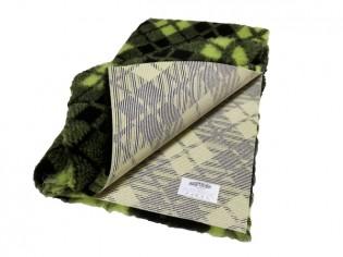 Tapis chien Drybed® antidérapant Tartan Vert et Noir