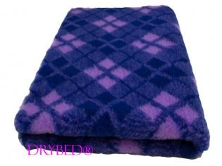 Tapis chien Drybed® antidérapant Tartan Marine et Violet