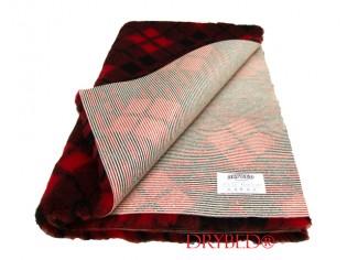 Tapis chien Drybed® antidérapant Tartan Rouge et Noir