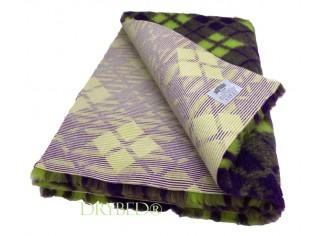 Tapis chien Drybed® antidérapant Tartan Vert et Violet