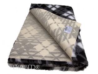 Tapis chien Drybed® antidérapant Tartan Blanc et Noir