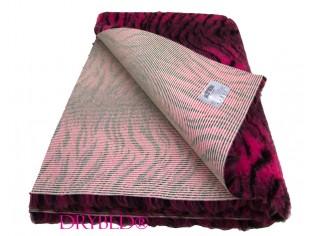 Tapis chien Drybed® antidérapant Tigre Cerise et Noir