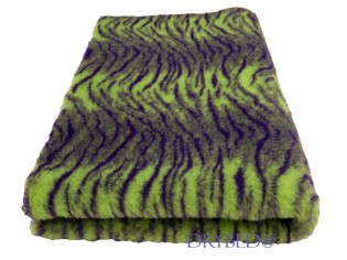 Tapis chien Drybed® antidérapant Tigre Vert et Violet