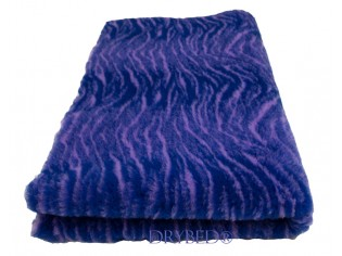 Tapis chien Drybed® antidérapant Tigre Marine et Lilas