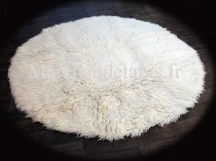 Flokati pure laine vierge 150cm Rond - 2000gr