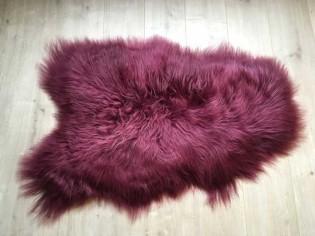 Peau de mouton Islande - 100cm/110cm - Bordeaux