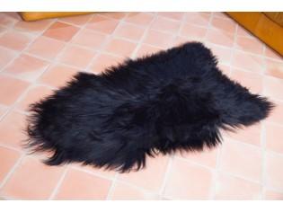 Peau de mouton Islande Poils longs Noir Marron - 1112-0002