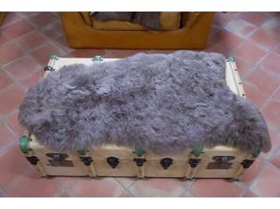 Peau de mouton Islande Poils courts Marron naturel 6215