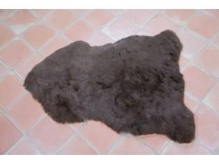 Peau de mouton Islande Poils courts Marron naturel 6216