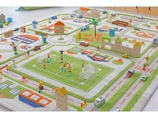 Tapis enfant IVI, 3D Ville Vert