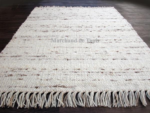 berberina 120cm x 200cm naturel mix - Tapis En Laine
